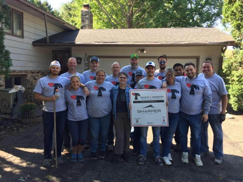 Sharper Gives Back – Hearts & Hammers